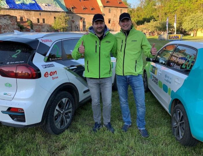Vítězové krumlovské soutěže: Michal Žďárský (vlevo) a Jakub Nábělek