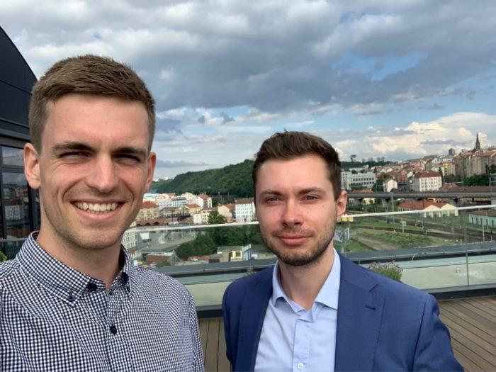 Elektrojízda - Petr Zrůst (vlevo) a Jan Vaculík